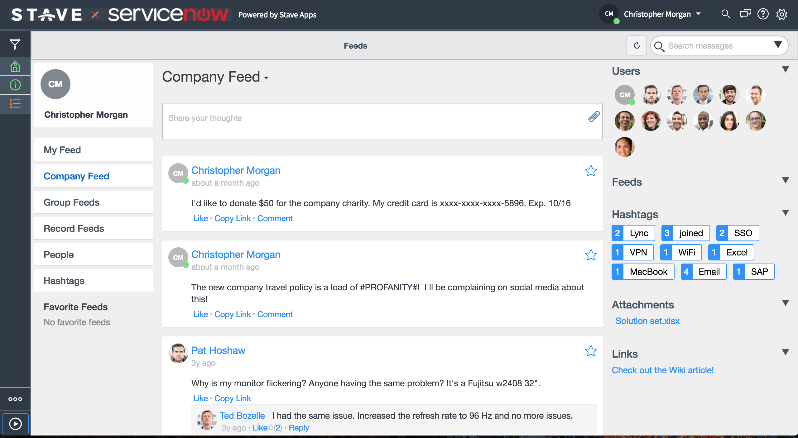 Data Tools on Servicenow powered by Stave